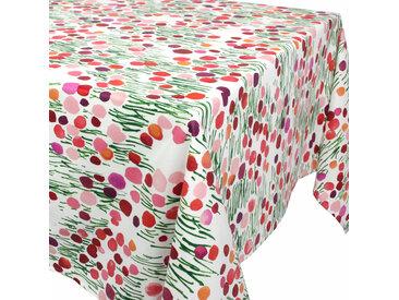 Nappe rectangle 160x350 cm 100% coton enduction acrylique PRAIRIE blanc