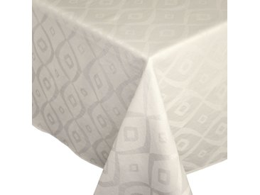 Nappe rectangle 150x300 cm Jacquard 100% polyester BRUNCH ecru