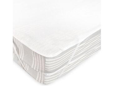 Alèse plate imperméable 130x190 cm ARNON molleton 100% coton contrecollé polyuréthane