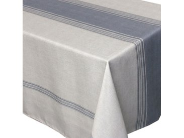 Nappe rectangle 150x250 cm imprimée 100% polyester BISTROT Gris
