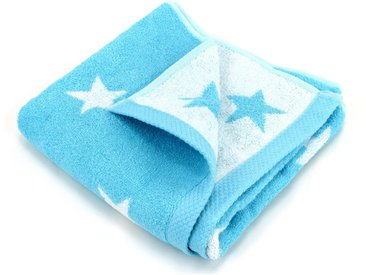 Serviette de toilette 50x100 cm 100% coton 480 g/m2 STARS Bleu Turquoise