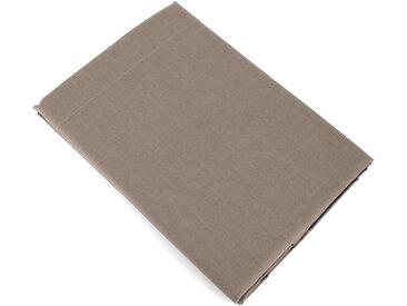 Drap plat uni 240x310 cm 100% coton ALTO Muscade