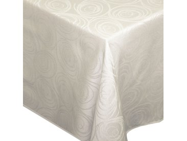 Nappe rectangle 150x250 cm Jacquard 100% coton SPIRALE ecru