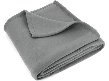 Couverture polaire 180x220 cm Isba gris Acier 100% Polyester 320 g/m2 traité non-feu