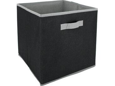 Cube de rangement cartonnée 27L noir