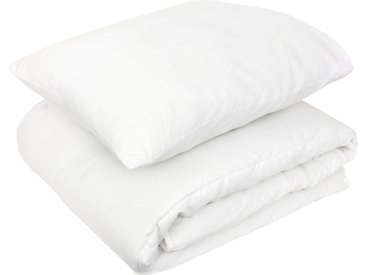 Pack premium couette oreiller 120x150 et 42x62 cm GAVROCHE 100% polyester blanc