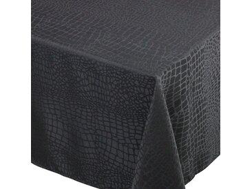 Nappe carrée 175x175 cm Jacquard 100% polyester LOUNGE noir