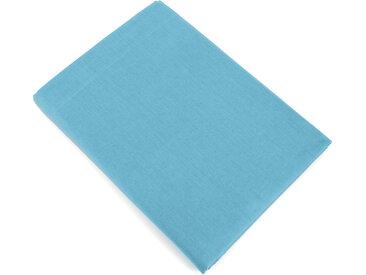 Drap plat uni 270x310 cm 100% coton ALTO bleu sky