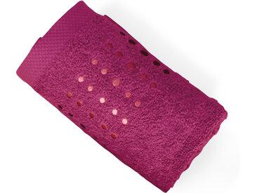 Serviette de toilette 50x100 cm 100% coton 550 g/m2 PURE POINTS Violet Prune