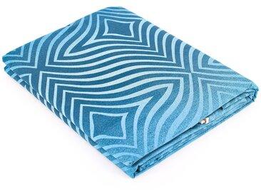 Drap plat 180x290 cm Percale 100% coton JAMES bleu Azur