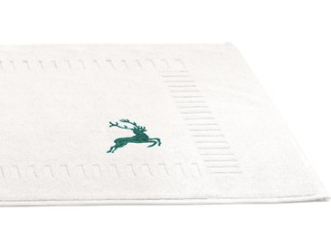 Tapis de bain 50x70 cm HIRSH Blanc Vert 700 g/m2