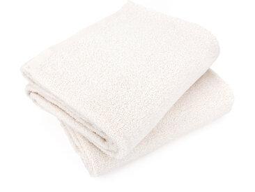 Lot de 2 draps de bain 90x150 cm ALPHA ivoire