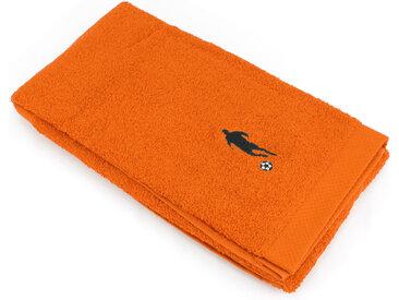 Drap de douche 70x140 cm 100% coton 550 g/m2 PURE FOOTBALL Orange Butane