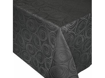 Nappe carrée 175x175 cm Jacquard 100% coton SPIRALE anthracite