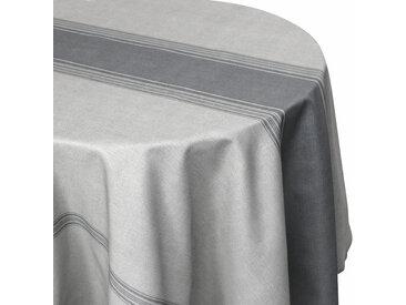 Nappe ovale 180x240 cm imprimée 100% polyester BISTROT gris Charbon