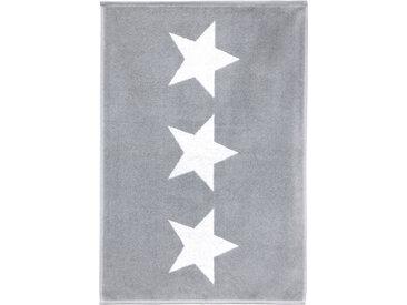 Tapis de bain 50x70 cm 100% coton 700 g/m2 STARS Gris