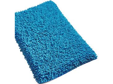 Tapis de bain 50x80 cm CHENILLE Bleu électrique 1800 g/m2