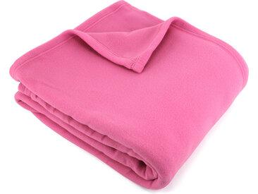 Couverture polaire 240x260 cm 100% Polyester 350 g/m2 TEDDY Rose Pétunia