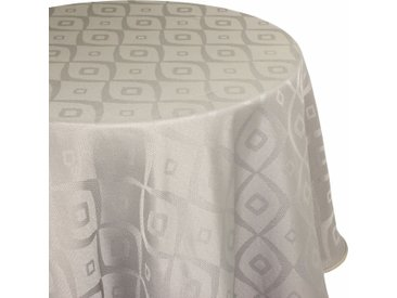 Nappe ovale 180x300 cm Jacquard 100% polyester BRUNCH taupe