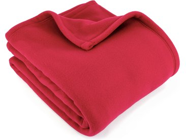 Couverture polaire 240x260 cm 100% Polyester 350 g/m2 TEDDY Rouge Framboise