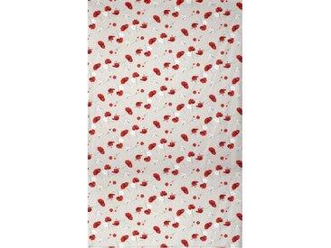 Drap plat 280x325 cm Percale pur coton CYBELE FLOWERS Ecru