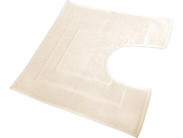 Tapis de bain contour WC et lavabo 60x60 cm FLAIR Sable 1500 g/m2