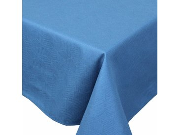 Nappe rectangle 150x200 cm Jacquard 100% coton CUBE bleu Cobalt