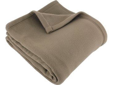 Couverture polaire 240x260 cm 100% Polyester 350 g/m2 TEDDY Marron Taupe