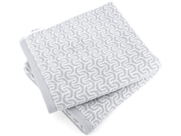 Lot de 2 serviettes de toilette 50x100 cm GRAPHIC HOOK gris