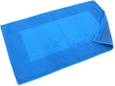 Tapis de bain antidérapant 60x90 cm velours PRESTIGE bleu Turquoise