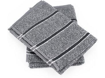Lot de 2 torchons de cuisine 50x50 cm CHECKS gris