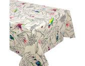 Nappe rectangle 160x300 cm 100% coton enduction acrylique COLIBRI ecru