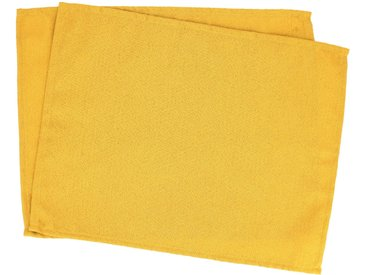 Lot de 2 sets de table 35x45 cm Jacquard 100% coton CUBE jaune Curcuma