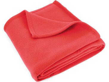 Couverture polaire 220x240 cm Isba Fraise 100% Polyester 320 g/m2 traité non-feu