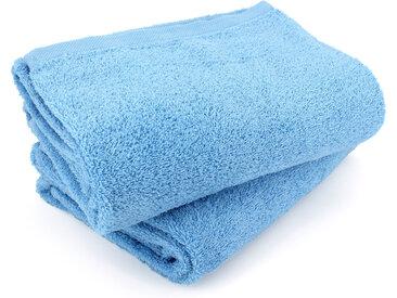 Lot de 2 draps de bain 90x150 cm ALPHA bleu Ciel
