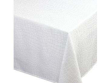 Nappe rectangle 150x350 cm Jacquard 100% polyester LOUNGE blanc