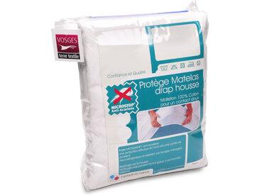 Protège matelas 90x220 cm ANTONIN Molleton absorbant traité anti-acariens