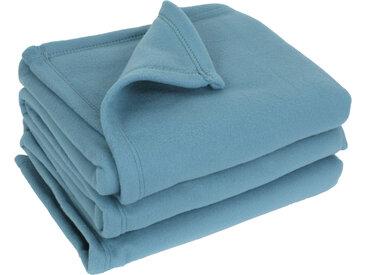 Couverture polaire 240x260 cm 100% Polyester 350 g/m2 TEDDY bleu Lac