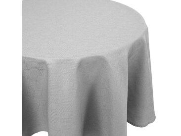 Nappe ovale 180x300 cm Jacquard 100% coton CUBE gris Perle