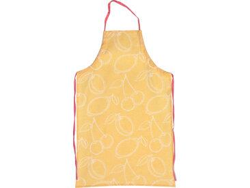 Tablier de cuisine 60x90 cm toile 100% coton LINE Orange