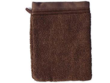 Gant de toilette 16x21 cm JULIET Marron 520 g/m2