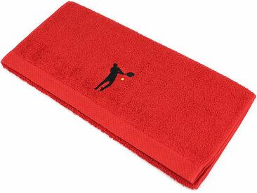 Serviette de toilette 50x100 cm 100% coton 550 g/m2 PURE TENNIS Rouge