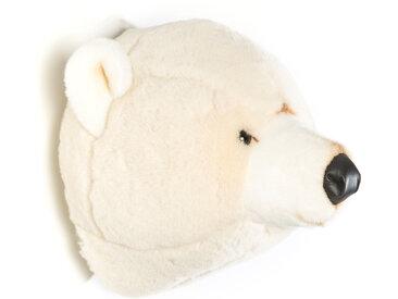 Peluche trophée Ours Blanc Basile collection Polaire