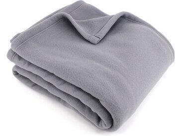 Couverture polaire 240x300 cm 100% Polyester 350 g/m2 TEDDY Gris Acier