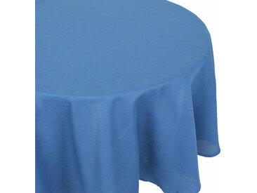 Nappe ovale 180x240 cm Jacquard 100% coton CUBE bleu Cobalt