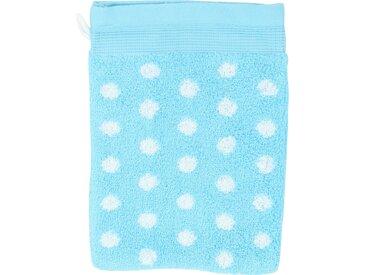 Gant de toilette 16x21 cm GRAPHIC DOTS Turquoise 550 g/m2