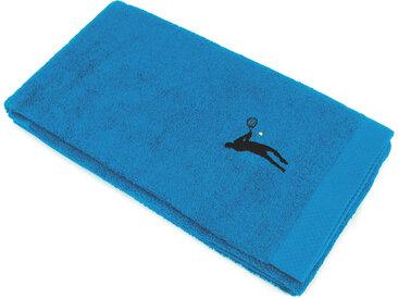 Drap de douche 70x140 cm 100% coton 550 g/m2 PURE TENNIS Bleu Turquoise