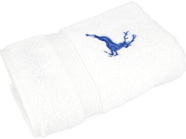 Serviette de toilette 50x100 cm HIRSH Blanc/Bleu 600 g/m2