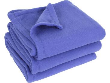 Couverture polaire 220x240 cm 100% Polyester 350 g/m2 TEDDY violet Liberty