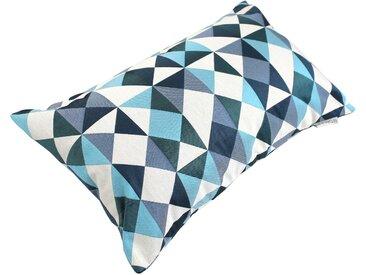 Housse de coussin 30x50 cm ANZO Eclats bleus et blancs Polycoton